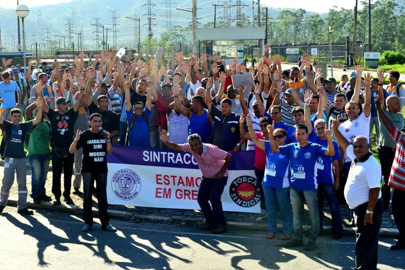 Na refinaria, 240 da Tomé pararam nesta segunda-feira