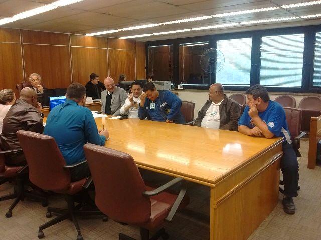 Trabalhadores da Codesavi realizam audiência no TRT-SP