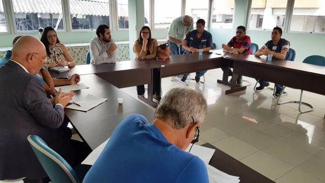 Representantes da Infraner são recebidos pela  diretoria do Sintracomos