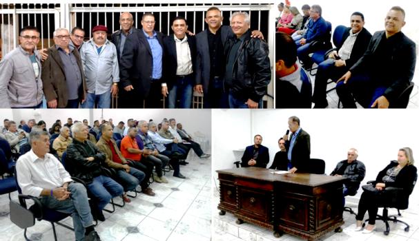 Cerimônia de posse da nova Diretoria da Feticom/SP realizada na Colônia de Férias em Mongaguá na Baixada Santista, no inicio da noite de quinta-feira 22/08/2019.