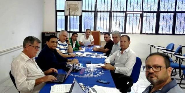 O Presidente do Sintracomos Macaé Marcos Braz de Oliveira participa de reunião da Diretoria Executiva da Feticom como Diretor Tesoureiro.